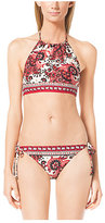 Michael Kors Paisley-Print Bikini Top