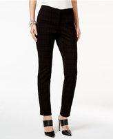 Alfani Flocked Grid-Print Pants, Only at Macy's