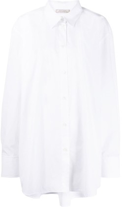 Nina Ricci Oversized Logo Embroidered Shirt