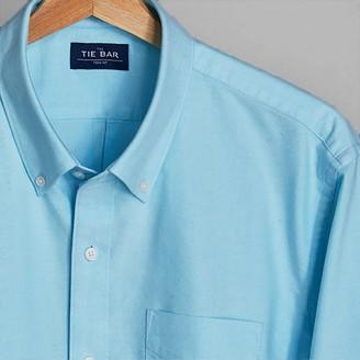Tie Bar The Modern-Fit Oxford Aqua Casual Shirt