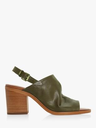 Bertie Issi Leather Slingback Block Heel Sandals