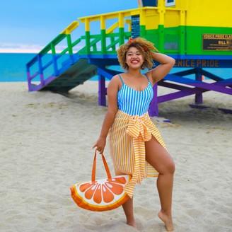 Summersalt The Easy Breezy Sarong - Mango & White Sand