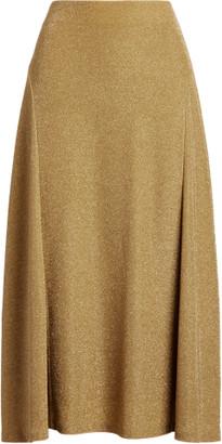Ralph Lauren Metallic Double-Knit Jacquard Skirt