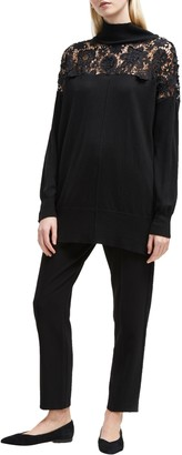 French Connection Nadia Lace Jumper, Black