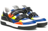 John Galliano double strap sneakers - kids - Leather/Pig Leather/rubber - 30