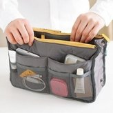KLOUD City 6 Colors Nylon Travel Handbag Pouch / Bag in Bag / Insert Organizer / Cosmetic Pocket / Makeup Bag / Tidy Bag plus KLOUD City Cleaning Cloth (grey)