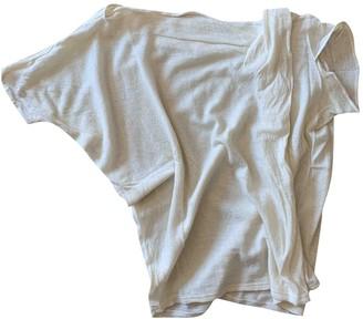 Non Signé / Unsigned Non Signe / Unsigned Manche ballon White Cashmere Knitwear for Women