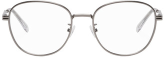 Bottega Veneta Silver Round Glasses