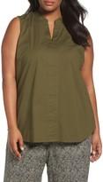 Eileen Fisher Plus Size Women's Organic Cotton Poplin Shirt