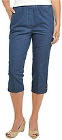 Allison Daley Plus Pull-On Denim Capris