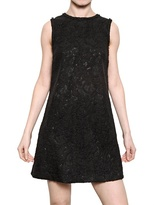 Mixed Wool Lace A Line Dress