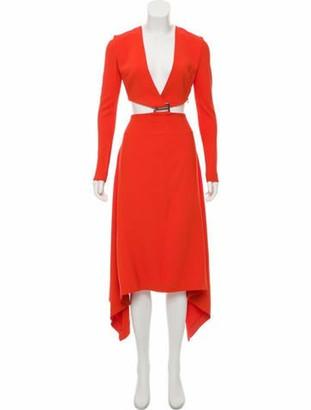 Dion Lee Cutout Maxi Dress Orange