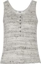 LnA Sevigny marled jersey top