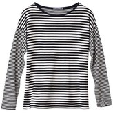 Petit Bateau Womens long-sleeved tee in striped tube knit