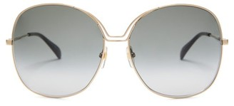 Givenchy Oversized Round Metal Sunglasses - Womens - Gold