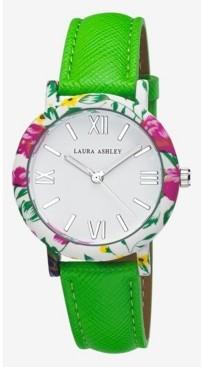 Laura Ashley Ladies' Band Floral Bezel Watch