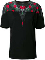 Marcelo Burlon County of Milan T-shirt with rose and wing print