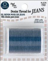 Denim & Thread Coats: Thread & Zippers Coats Thread & Zippers COATS Denim Thread for Jeans, 250-Yard