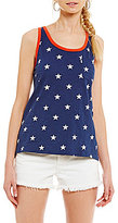 Levi's The Good Perfect Star-Print Knit Pocket Tank Top