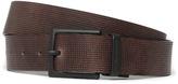 Boss Orange James Black & Brown Reversible Textured Belt