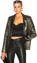 RtA Iggy Jacket in Black,Metallics,Stripes.