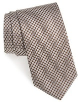 David Donahue Men's Geometric Silk Tie