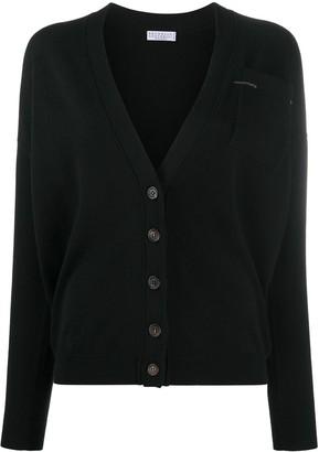 Brunello Cucinelli Bead Embellished Cashmere Cardigan