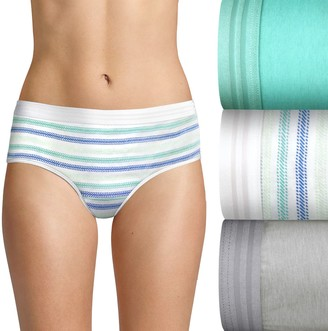 Hanes Women's Ultimate 3-pack ComfortBlend Stretch X-Temp Hipsters 41XT