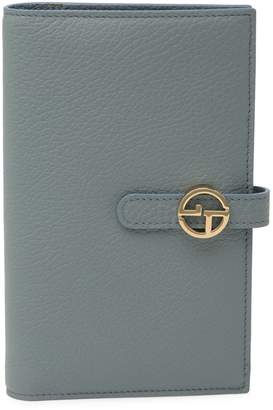 Giorgio Armani Leather Checkbook Wallet