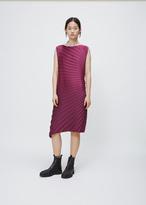 Issey Miyake pink radial pleats dress