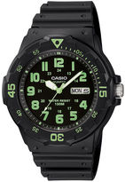 Casio Mens Black Resin Strap Diver Sport Watch MRW200H-3BV