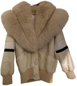Miu Miu Beige Fox Coat for Women