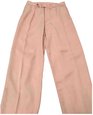 Cycle Pink Cotton Trousers for Women