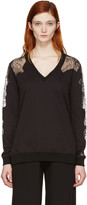 McQ by Alexander McQueen Black Lace-trimmed Pullover