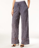 INC International Concepts Crocheted Wide-Leg Pants, Only at Macy's