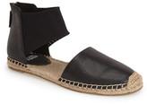 Eileen Fisher Coy Tumbled Leather Flat Sandal
