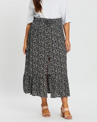 Atmos & Here Bella Button Front Maxi Skirt