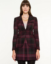 Le Château Plaid Notch Collar Blazer