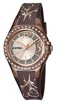 Calypso Women's Quartz Watch with Silver Dial Analogue Display and Brown Plastic Strap K5624/C