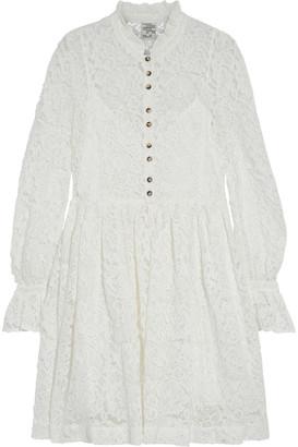 Baum und Pferdgarten Alaia Ruffled Cotton-blend Corded Lace Mini Dress
