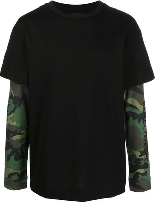 Juun.J camouflage layered T-shirt
