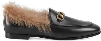 Gucci Jordaan fur loafer