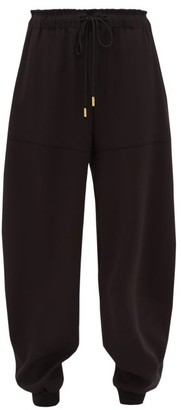 Chloé Tapered-leg Crepe Track Pants - Womens - Black