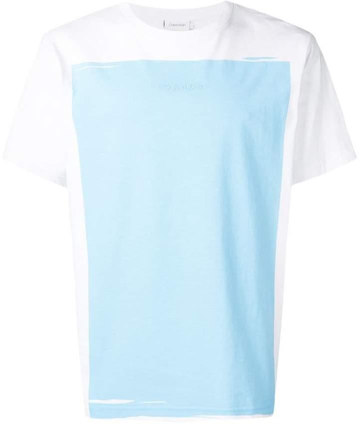 Calvin Klein white and Norse blue T-shirt