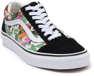 Vans Old Skool Floral Print Sneaker (Big Girls)