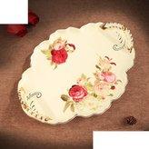 skjfig European ceramic tray/ coffee tea set tray system tray/ fruit/[Serve tea tray]
