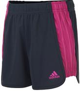 adidas Dark Gray The Block Drawstring Shorts - Girls