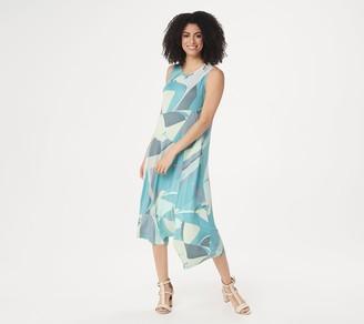 Logo by Lori Goldstein Knit Tank Dress with Asymmetric Hem