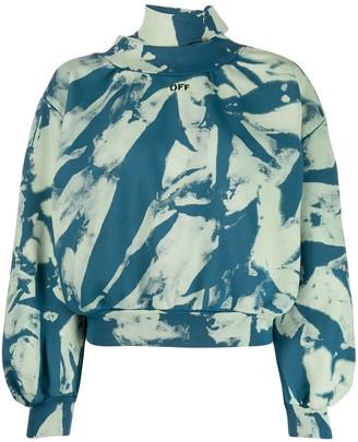Off-White tie-dye gathered sweatshirt
