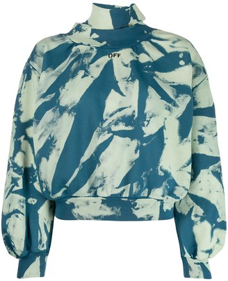 Off-White Tie-Dye Gathered Sweatshirt